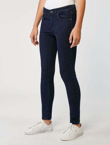 Skinny-fit jeans in dark blue