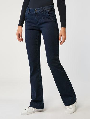 Boot-cut jeans in dark blue