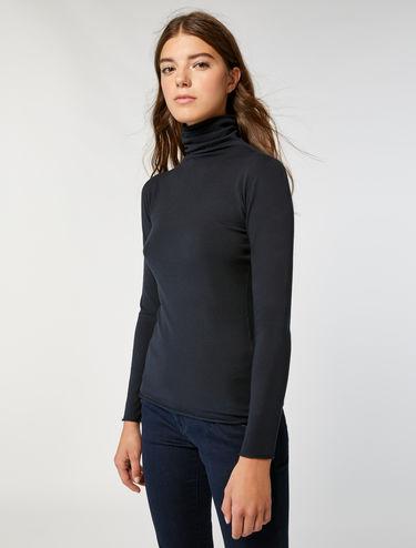 Jersey cuello cisne de punto stretch