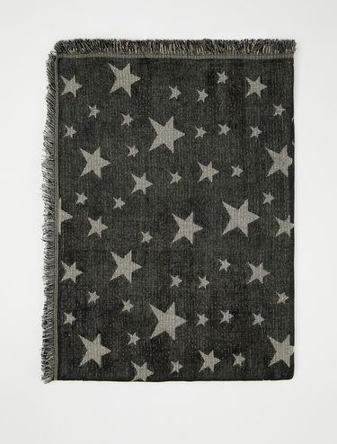 Jacquard stars scarf
