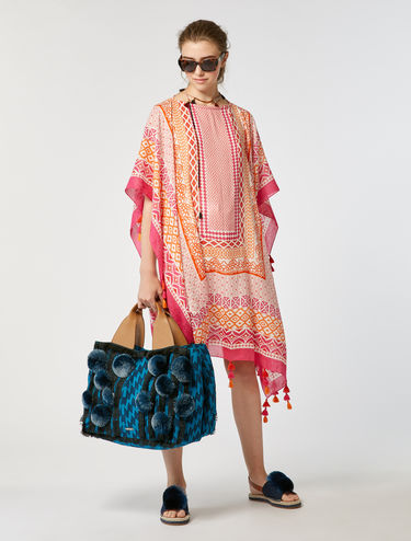 Flowing kaftan with tassels