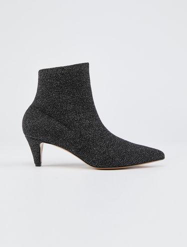 Lamé sock boots