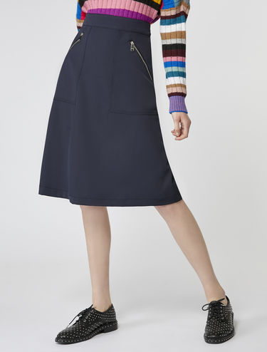 Stretch cavalry twill skirt