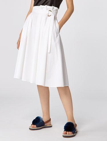 Poplin circle skirt