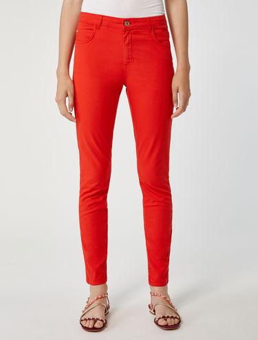 Skinny gabardine trousers