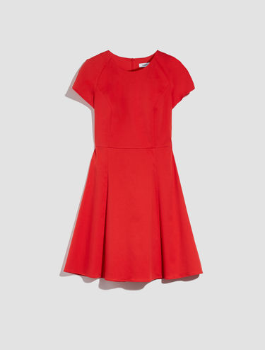 Fit and flare gabardine dress