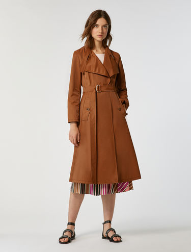 Trench-coat en coton et nylon
