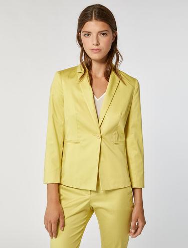 Slim blazer in cotton satin