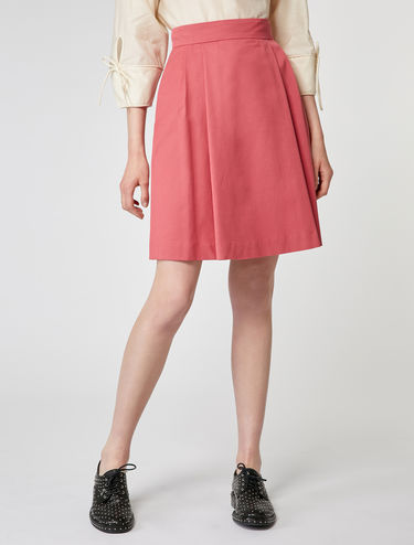 Stretch faille skirt
