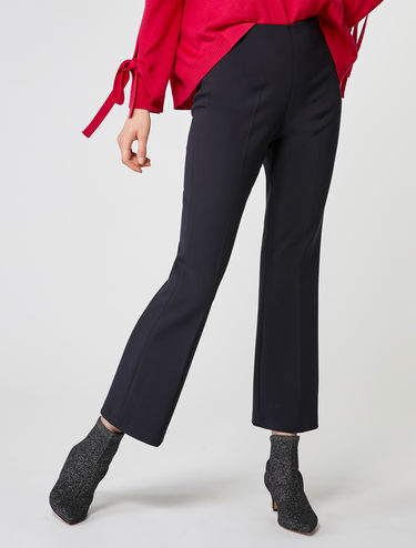 Kick-flare trousers