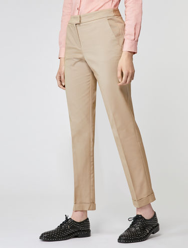 Stretch faille trousers
