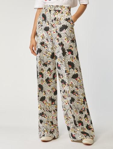 Pantalon en pur lin coupe large