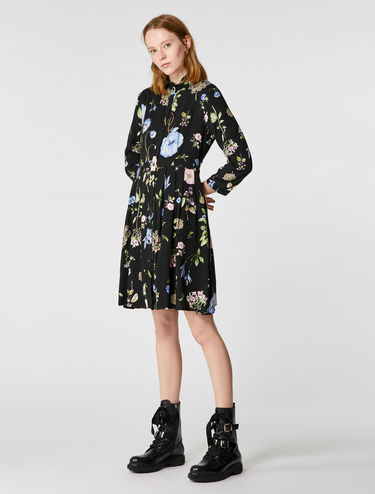 Floral print button-through dress