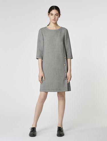 マイクロパターン シフト ドレス