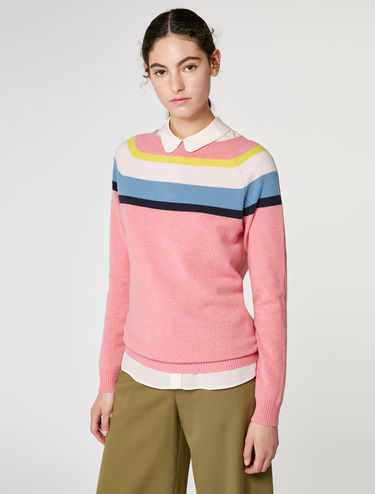 Pure cashmere round-neck sweater