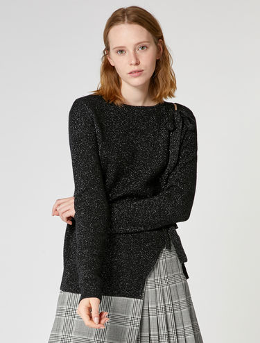 Lamé wool and cashmere sweater