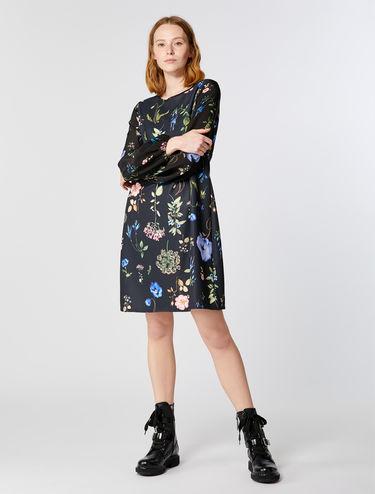 プリント ジャージー シフト ドレス