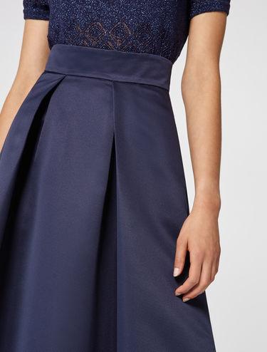 Flared corolla skirt in ottoman fabric