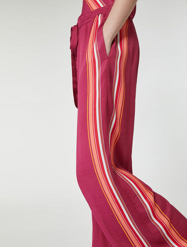 Foulard pants con bordi a righe