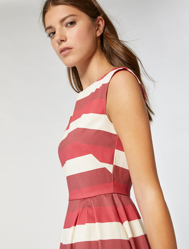 Corolla dress in stretch cotton/satin