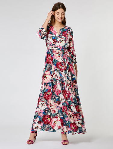 Floral dévoré velvet maxi dress