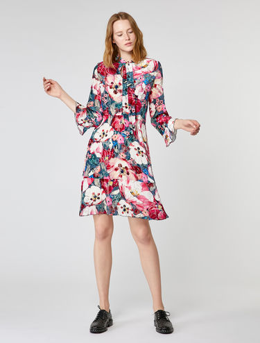 Floral dévoré velvet dress