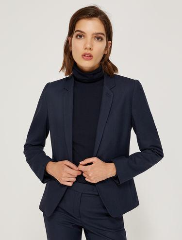 Micro-texture stretch blazer