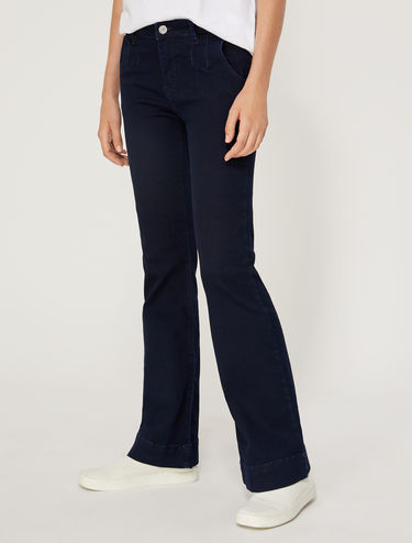 Boot-cut jeans in dark blue