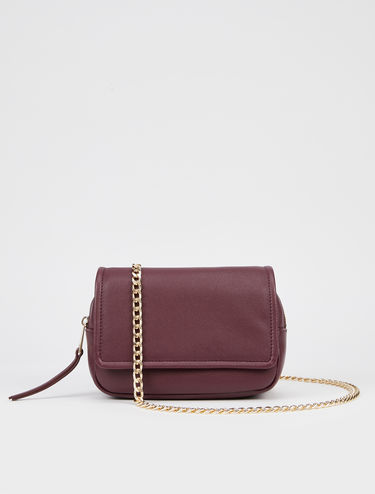 Mini bag with chain shoulder strap