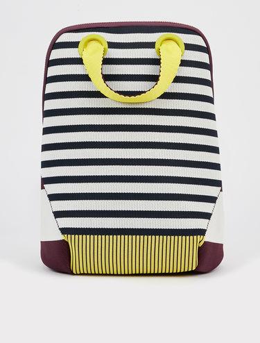Stripe knit rucksack