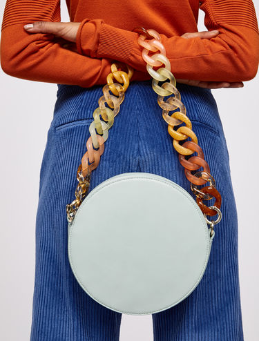Dot bag with maxi resin link chain