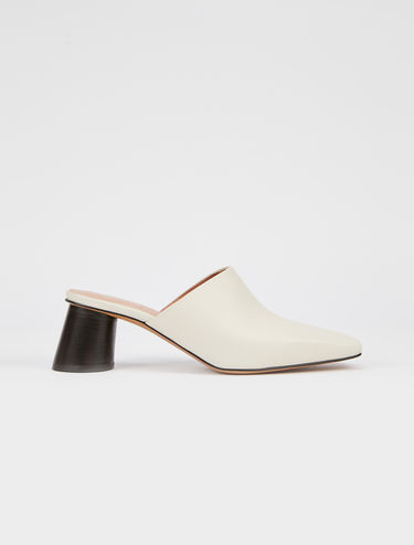 Square-toe mules