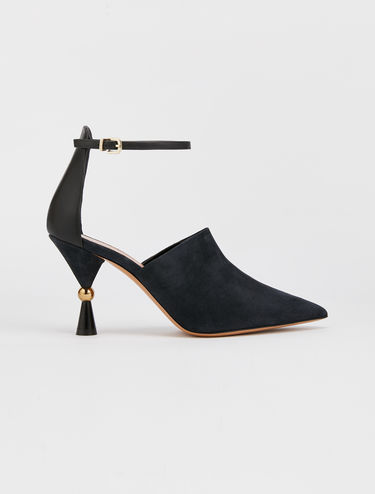 Pumps with hourglass heel