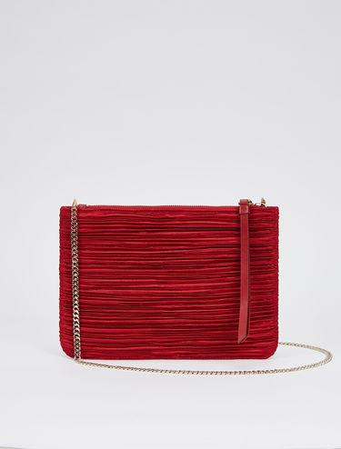 Pleated satin mini bag