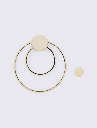Metal circle earrings