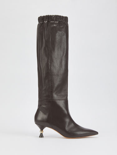 Tube boots with hourglass heel