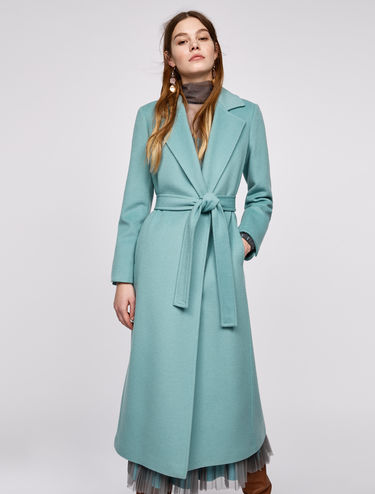Mid-length wrap coat Long Run
