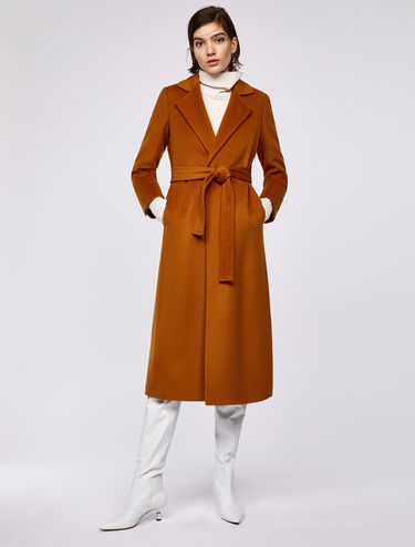 Mid-length wrap coat LONGRUN