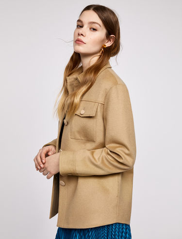 Pure wool shirt jacket