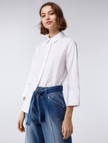 Loose-fit poplin shirt