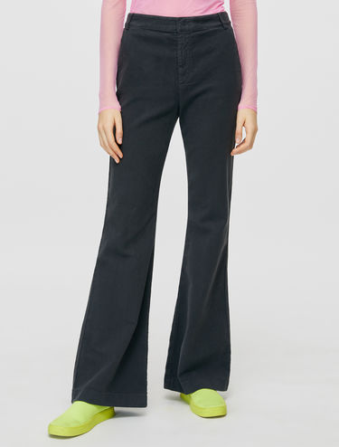 Bootcut fustian trousers