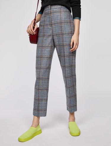 Tartan check trousers