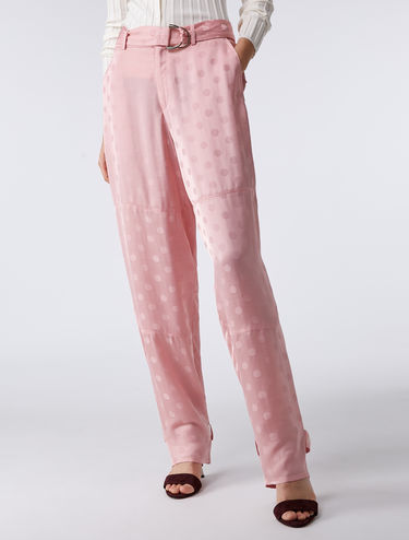 Polka-dot cargo trousers