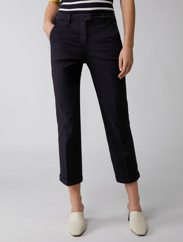 Pantalon court coupe slim