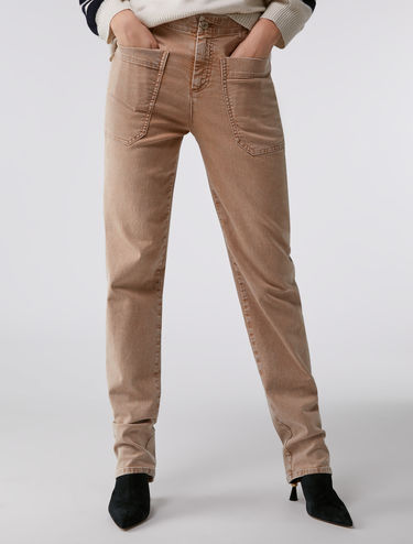 Pantalon en denim coloré