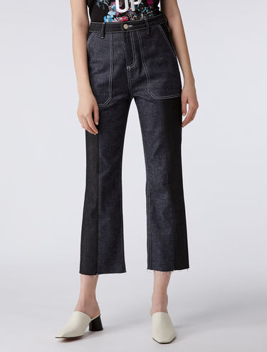 Cropped cargo jeans
