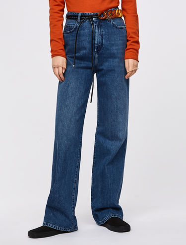 High-waisted relaxed fit jeans