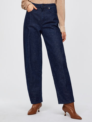 Blaue Baggy-Fit Jeans