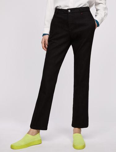 Black kick-flare jeans