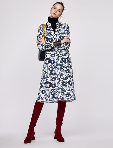 Printed tunic dress with belt